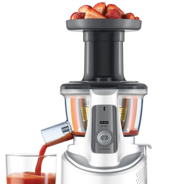 Review Breville BJS600XL Juice Fountain Crush Masticating Slow Juicer - The Healthy Apron