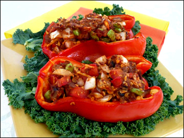 SUPER VEGGIE-STUFFED PEPPERS