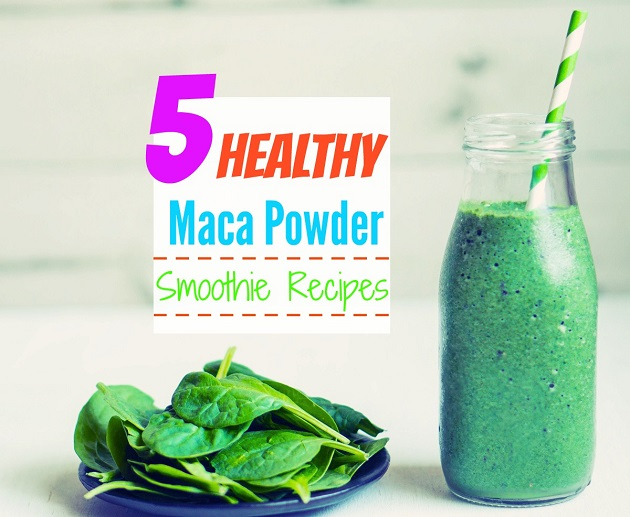 smoothie with maca powder