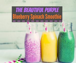 The Beautiful Purple Blueberry Spinach Smoothie