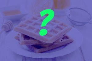 Waffles with blue background