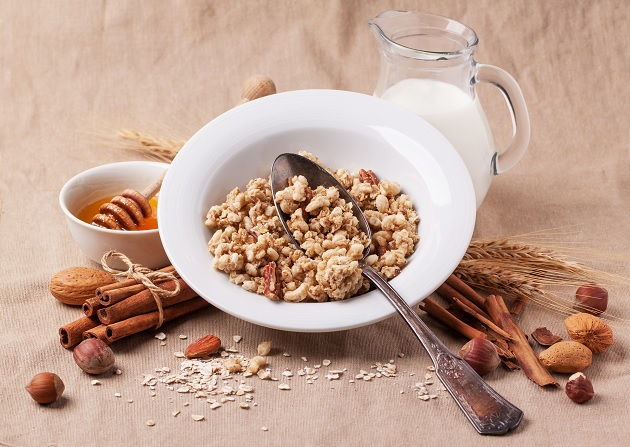Muesli With Milk And Honey