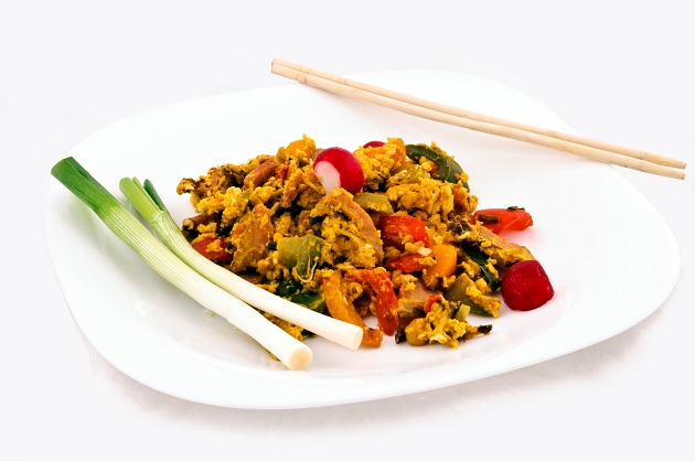 Stir Fried Ggs And Vegetables